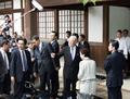 李登輝前台湾総統、靖国を訪問