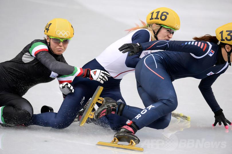 中国の李堅柔がショートトラック女子500メートルで金、ソチ五輪