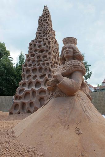 ラトビアで砂の彫刻祭り