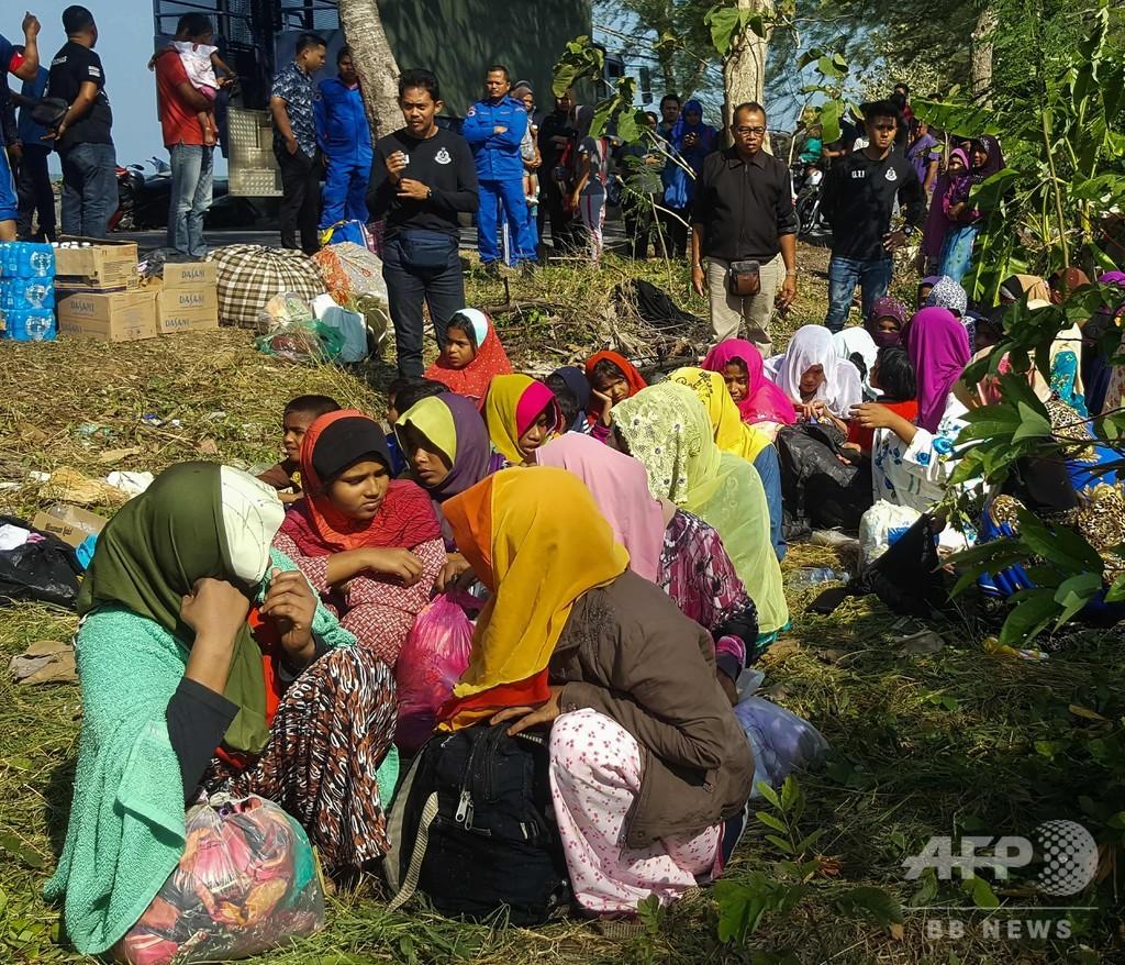 マレーシアの海岸にロヒンギャ34人が漂着 海路の避難民は約1年ぶり