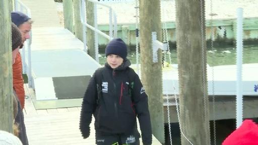 動画:グレタさん、ヨットで米国出発 COP25出席のためスペインへ