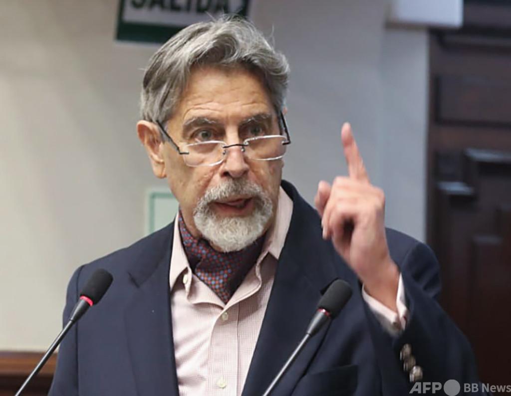 ペルー議会、新大統領を選出 中道サガスティ氏