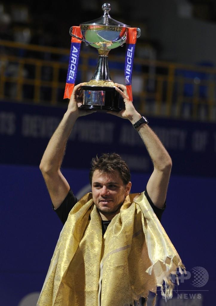 ワウリンカが3年連続4度目の優勝、チェンナイ・オープン