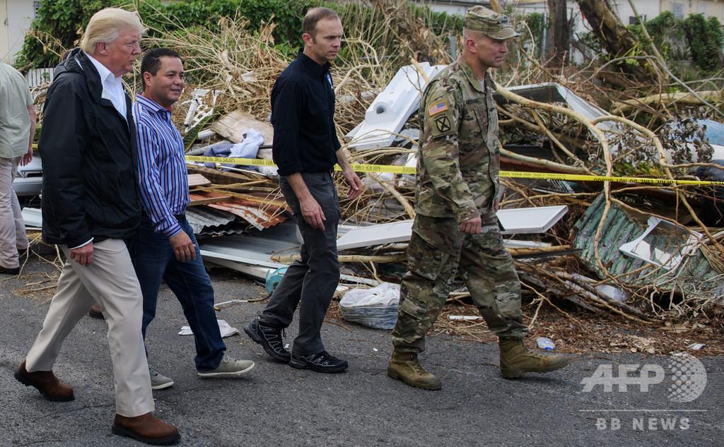 ハリケーン死者「3000人は民主党の水増し」 トランプ氏発言に党派超え批判