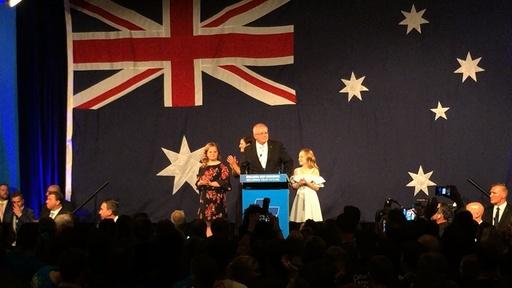 動画:オーストラリア総選挙、与党保守連合が勝利 世論調査の予測裏切る