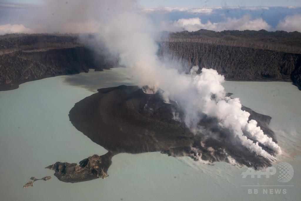 バヌアツの火山島、全島民の避難完了 大規模噴火の恐れで