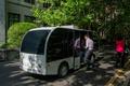 上海交通大学キャンパス内の無人運転バス試運転