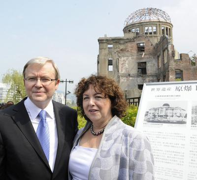 ラッド豪首相が広島訪問、核兵器廃絶を呼びかけ
