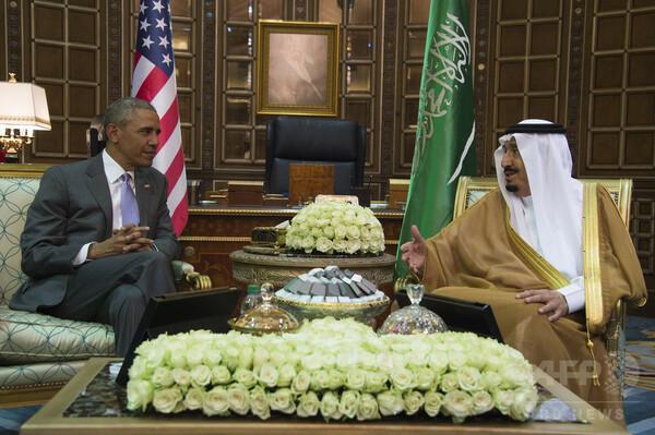 IS掃討やイラン対応を協議=同盟の修復確認-米サウジ首脳
