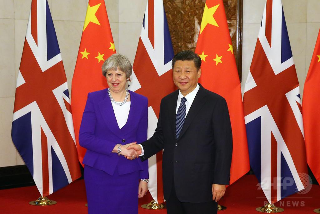 中国、英国と「新たな水準」の関係構築を提案 首脳会談