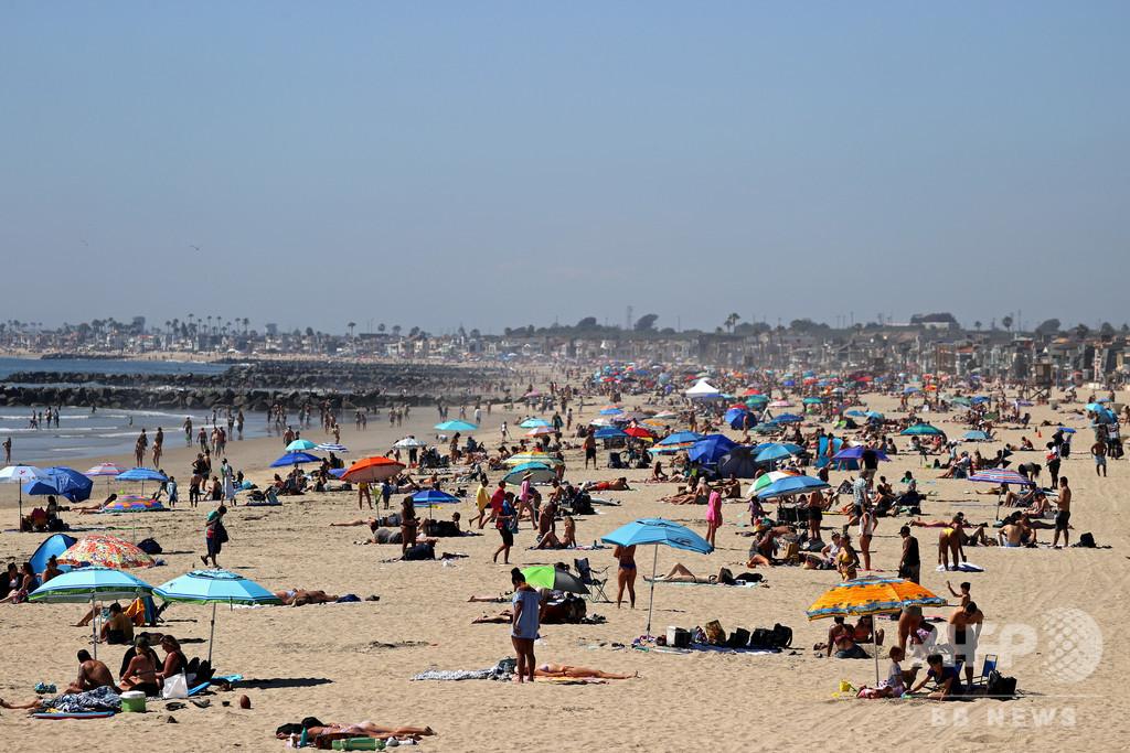 ビーチ殺到に警告 「コロナ対策逆行の恐れ」 米カリフォルニア州