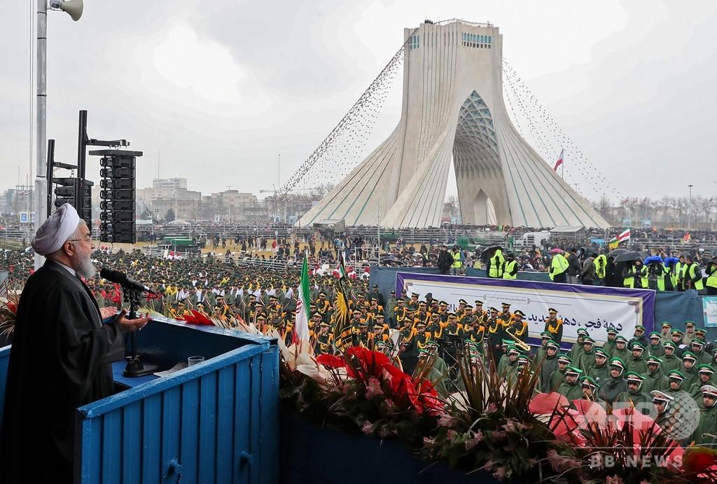 イスラム革命から40年、イラン大統領が米国の「陰謀」を非難