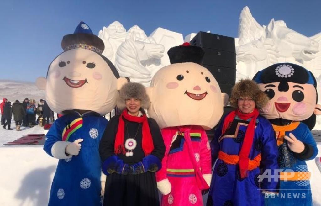 内モンゴル・フルンボイルで「氷と雪の日」 冬の観光シーズン到来