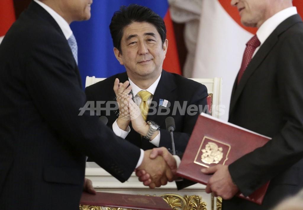 日露両首脳、北方領土交渉再開で一致