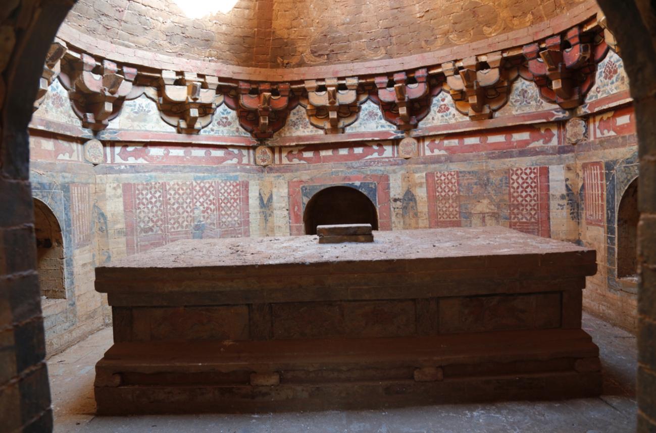 河南省で金代高僧の壁画墓見つかる 独特な設計で珍しい壁画も