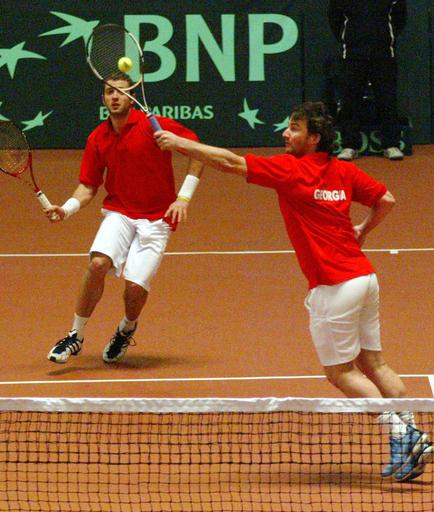 <男子テニス 07デビスカップ>ポルトガル 3連勝で2回戦進出を決める - グルジア
