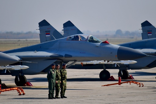 ロシア、ミグ29戦闘機6機をセルビアに引き渡し