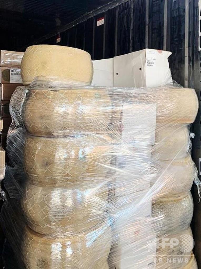 欧州産の密輸チーズ40トン押収、ロシア