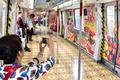 広州の縁日がテーマのラッピング車両、地下鉄に