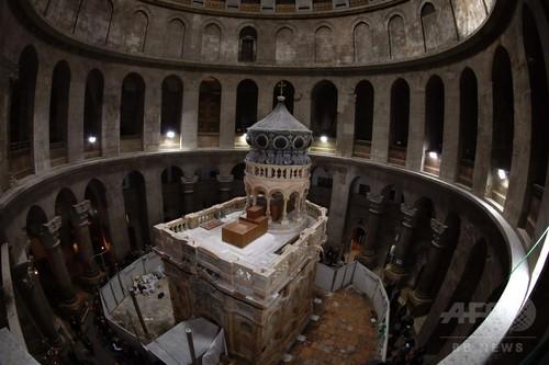 「キリストの墓」囲む聖堂、修復作業終了 エルサレム