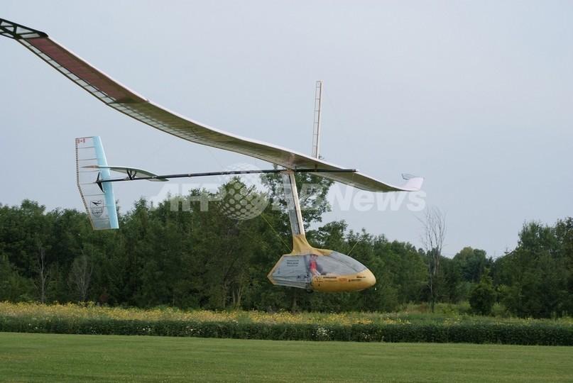 羽ばたき式人力飛行機、145メートルの飛行に成功 カナダ