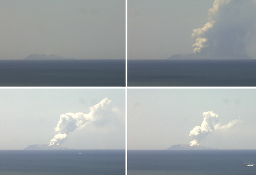 NZホワイト島の火山噴火、付近に外国人含む観光客約50人 1人死亡