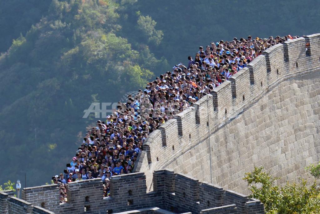 「万里の長城」もすし詰め状態、大型連休の中国