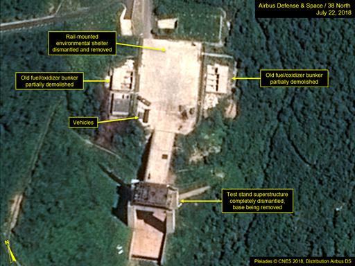 北朝鮮でミサイル実験場復旧の動き、「決意表明」の可能性も