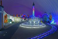 厳冬期だけの氷と雪の王国、乗り物も氷 ハルビン国際氷雪祭