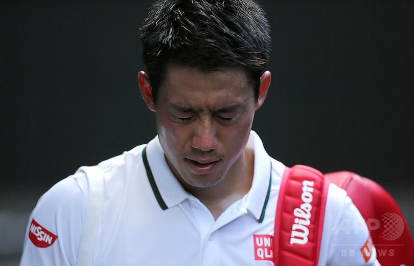 錦織は日本男子85年ぶり4強ならず、ジョコビッチに屈す ウィンブルドン
