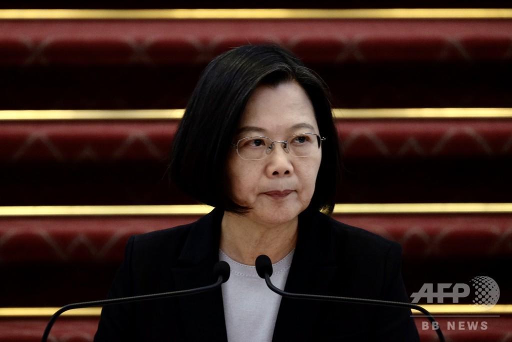 台湾の軍艦で新型コロナ集団感染、対策に「重大な不備」と蔡総統が謝罪