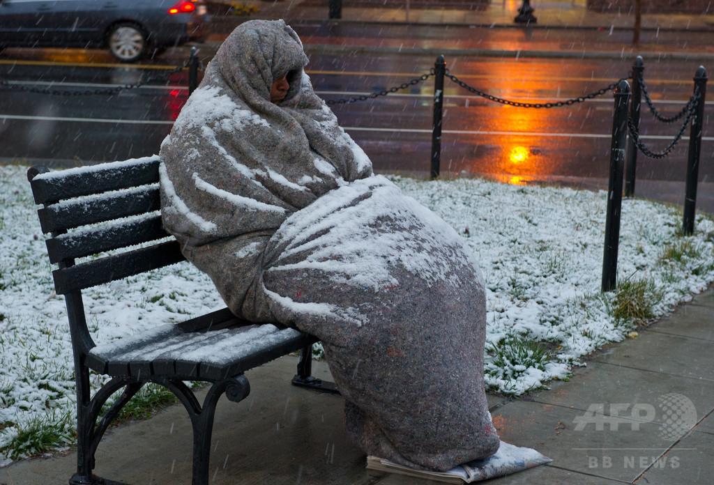 米首都に増えるホームレス状態、低賃金・立ち退き・高家賃