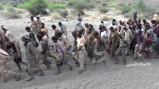 イエメンのフーシ派、「サウジ兵大量拘束」主張 捕虜の画像公開