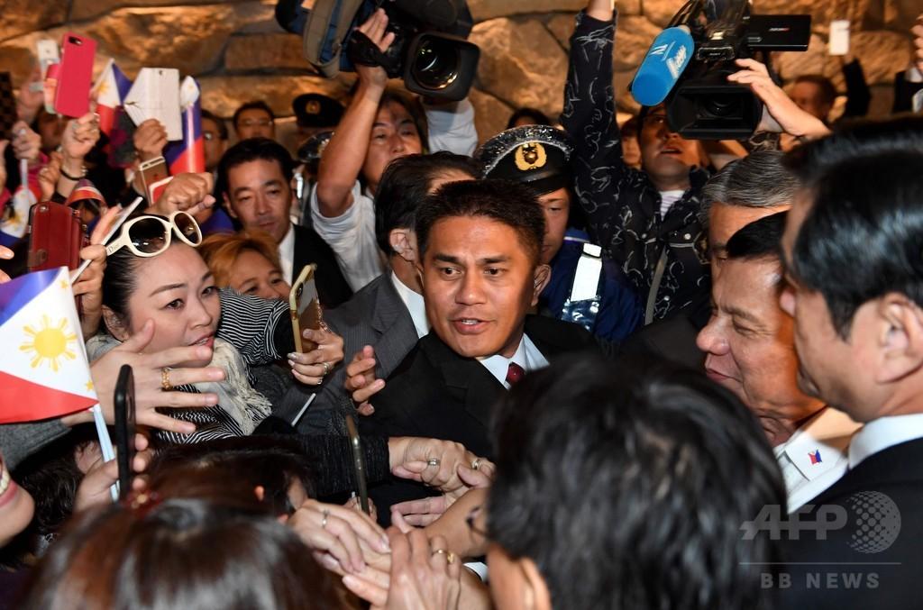 ドゥテルテ比大統領が来日 在日フィリピン人と会見