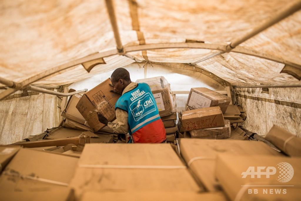コンゴ民主共和国、大統領選1週間延期か 倉庫火災で大量の投票機破壊