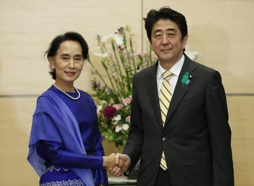スー・チー氏、安倍首相と会談