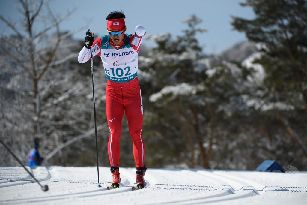 新田がクロカン10kmクラシカルで金メダル、平昌パラ