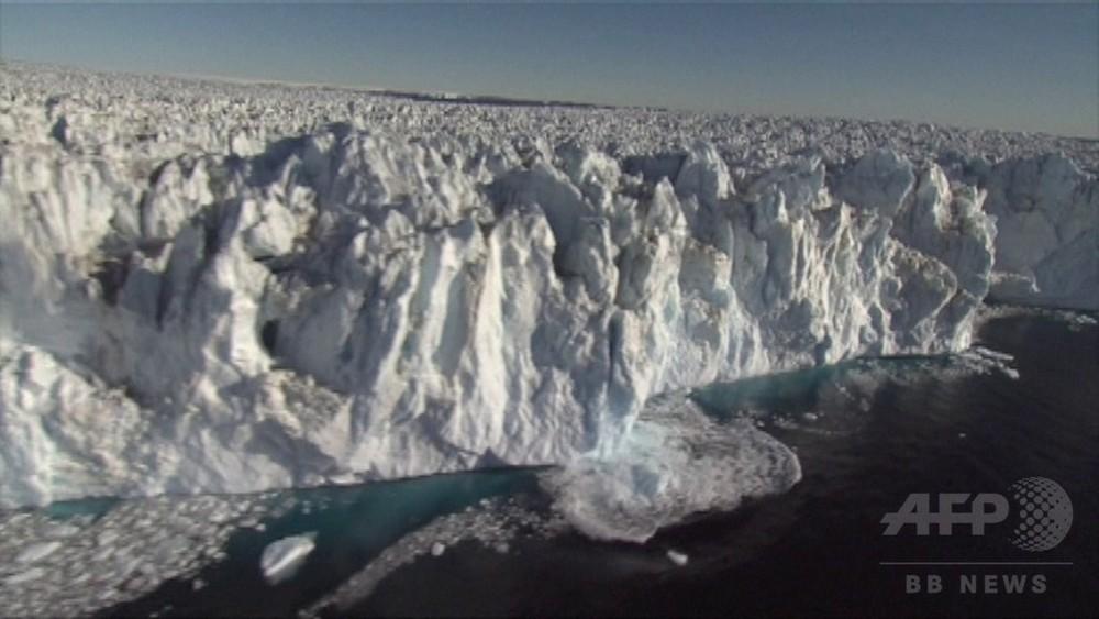 動画:南極巨大氷河、海面上に浮く部分が予想上回る 崩壊加速に懸念