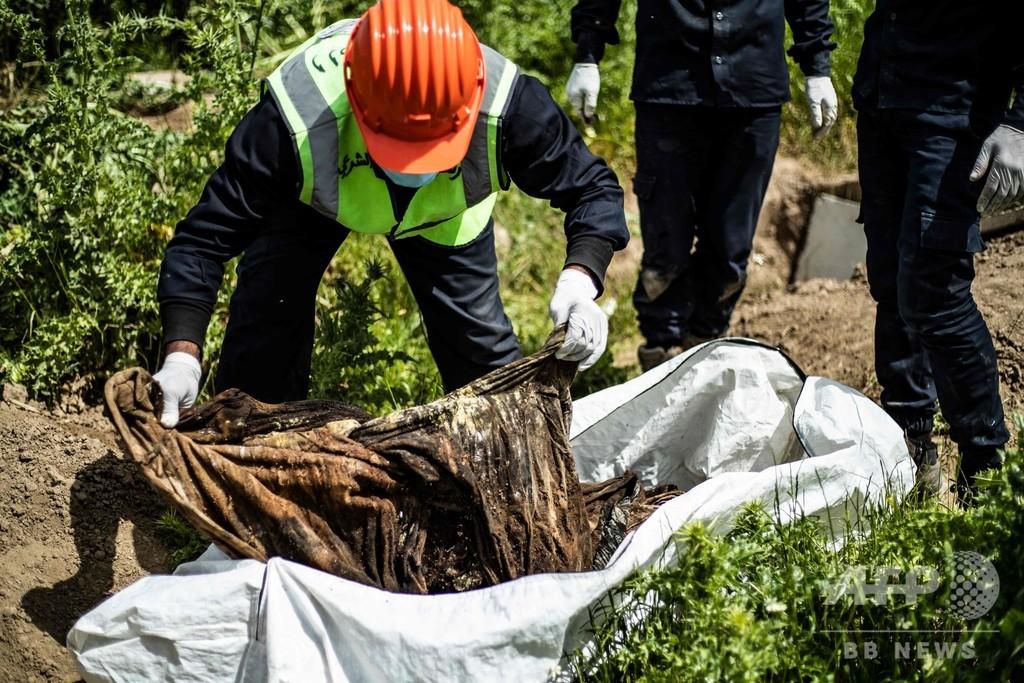 旧「IS首都」ラッカ近郊で200人の遺体発見、シリア北部