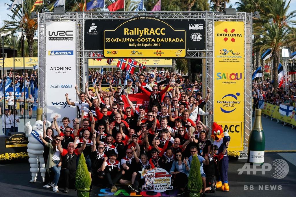 トヨタのタナックがWRC初の総合優勝、ラリー・スペイン