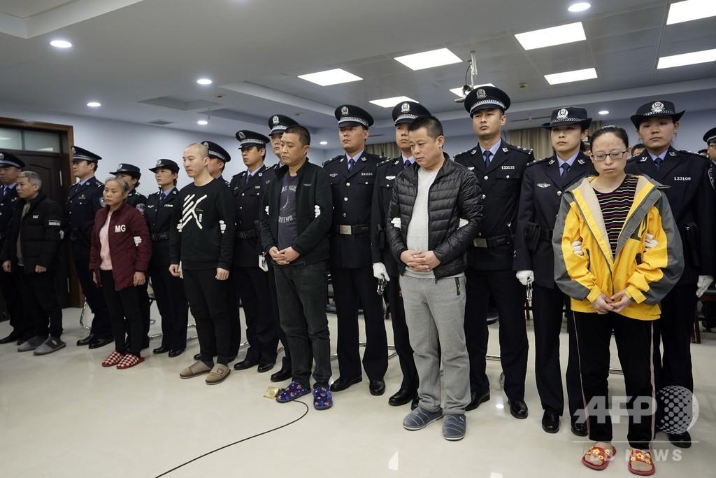 中国、米国への薬物密輸で9人に懲役判決