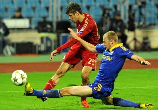 バイエルン・ミュンヘンがBATEボリソフに敗れる、欧州CL
