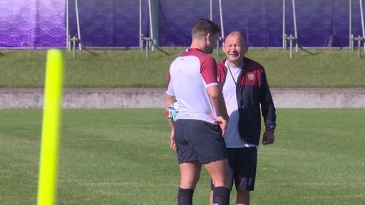 動画:イングランドのエディーHC、W杯決勝では「何も恐れずプレーする」