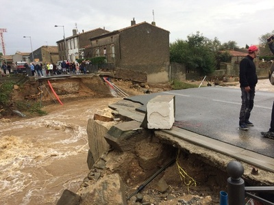 仏南西部、豪雨による河川氾濫で13人死亡