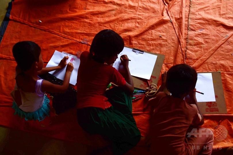 ロヒンギャ避難民の半分以上が未成年 家族いない子も多数