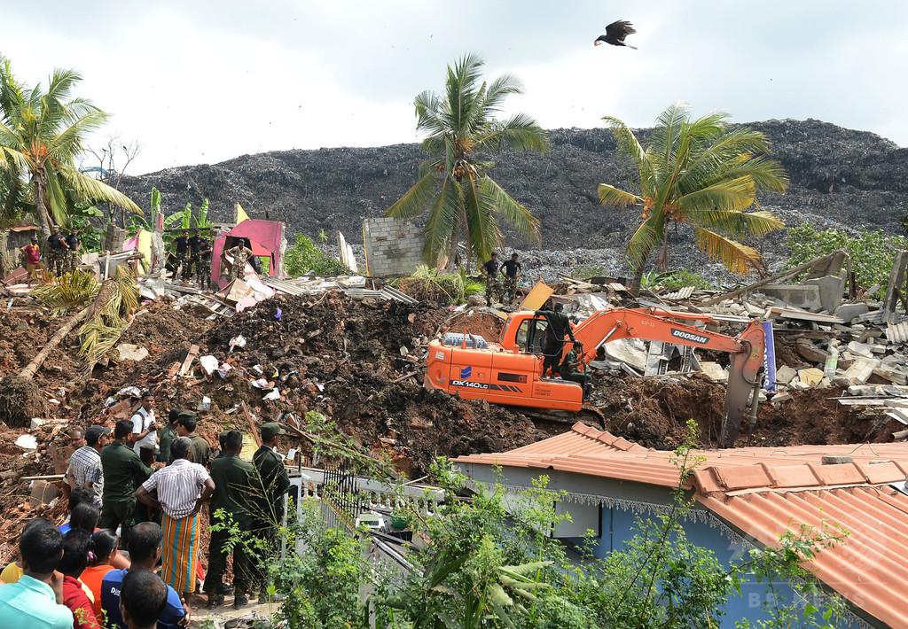 ごみ山が崩落、19人死亡 近隣住宅など145棟に被害 スリランカ