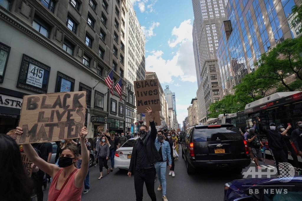 米ニューヨークに夜間外出禁止令、抗議デモ激化で