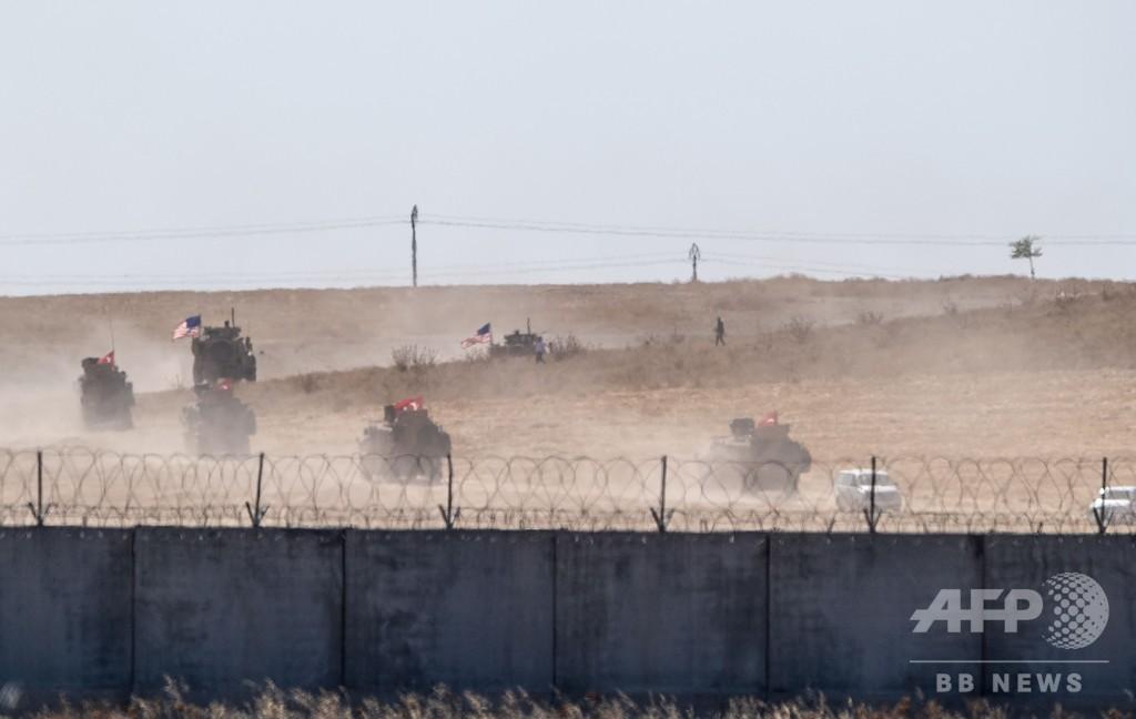 米トルコ、シリアで合同パトロール開始 「安全地帯」の設置予定区域