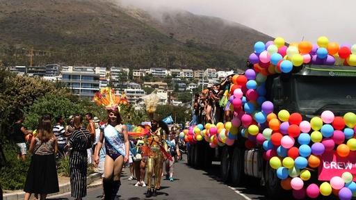 動画:南アで「ゲイ・プライド」パレード、アフリカ唯一の同性婚合法国
