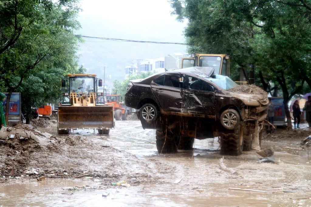 集中豪雨で10万人以上が被災 陜西